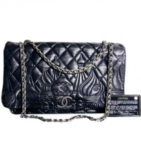 Chanel Lambskin Quilted Paris Moscou Red Square Flap Black
