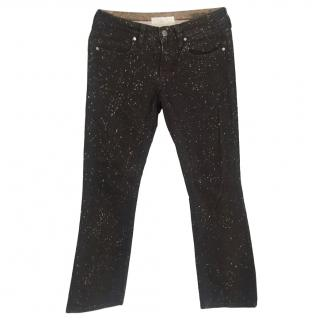 Stella McCartney Paint Splash Kick Flare Jeans
