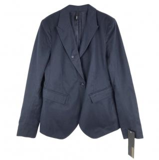 Edun Navy Cotton & Hemp Mix Jacket