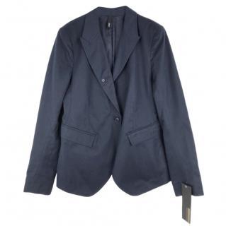Edun Navy Cotton & Hemp Mix Jacket