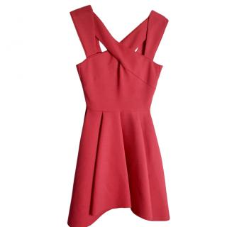 Maje Crossover Strap Red Summer Dress