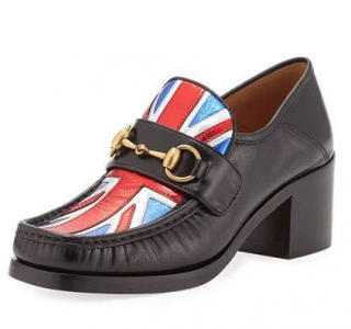 Gucci Vegas Union Jack Leather Loafers