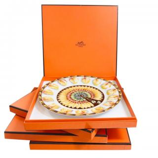 Hermes Ltd Edition Patchwork Collection Set of 4 Plates