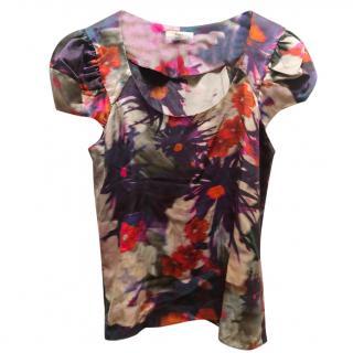 Erdem Silk Floral Top