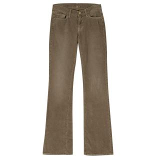 7 For All of Mankind Olive Green Corduroy Trousers