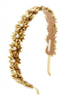 Deepa by Deepa Gurnani Gold Floral Hairband