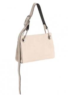 Calvin Klein 205W39NYC Belt Handle Suede Beige Shoulder Bag
