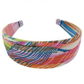 Cherry Chau wide silk hairband