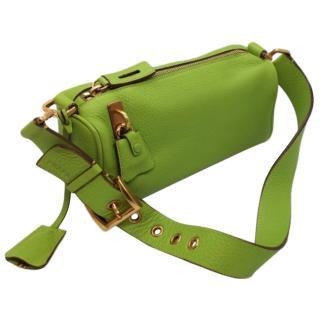 Prada Lime Green Leather Shoulder Bag
