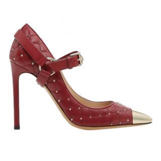 Valentino Garavani red rockstud spike quilted pumps