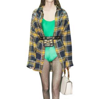 Gucci Green Jersey Shiny Body