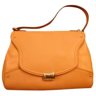 Nina Ricci Orange Soft Leather Tote Bag