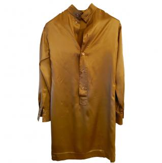 Yves Saint Laurent Gold Silk Satin Dress