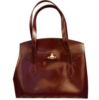 Vivienne Westwood Polished Brown Tote Bag