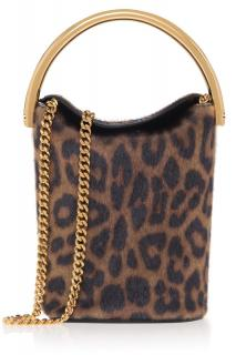 Stella McCartney Leopard-print Shoulder Bucket bag