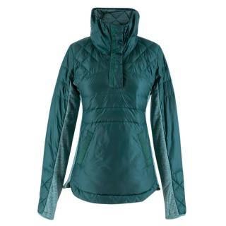 Lululemon Teal Technical Nylon Quilted Hoodie