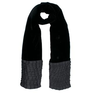 Emporio Armani Black Velvet Scarf