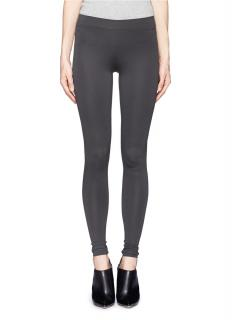 Vince Grey Stretch Stitch-Detailed Leggings