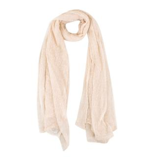 Faliero Sarti Nude Star Patterned Shawl