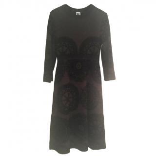 M Missoni Aubergine metallic knit dress