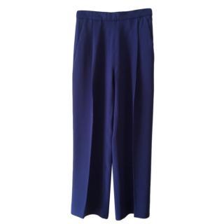 Pianoforte Max Mara Blue Wide Leg Pants