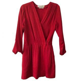Christian Dior Vintage Red Silk Mini Dress