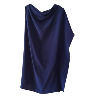 Max Mara Draped Asymmetric Blue Tunic