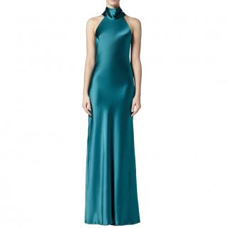 Galvan London Emerald Silk Sienna Dress