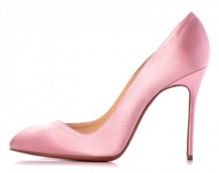 Christian Louboutin Satin Corneille Rose 100mm Pumps