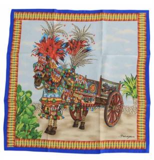 Dolce & Gabbana Sicilian Horse & Cart Scarf