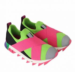 Dolce & Gabbana Neoprene Shark Sole Sneakers