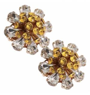 Dolce & Gabbana Crystal Daisy Clip-On Earrings
