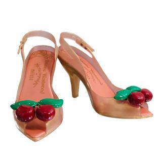 088b5b086 Vivienne Westwood Anglomania for Melissa Cherries Slingback Sandals