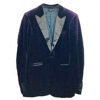 Burberry Prorsum Purple Velvet Dinner Jacket