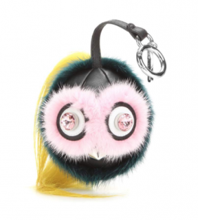 Fendi Beak Mohawk Fur Monster Charm