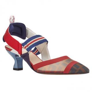 Fendi Roma Multicolour Technical-mesh Colibri Court Shoes - New Season