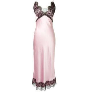 Natasha Zinko pink silk slip dress