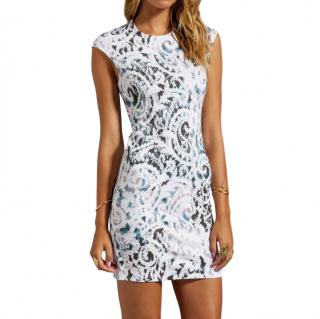 McQ Oyster Lace Print Jersey Mini Dress