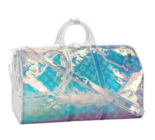 Louis Vuitton by Virgil Abloh Monogram Prism Keepall 50B