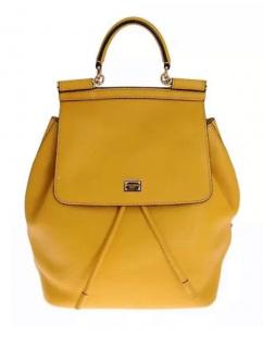 Dolce & Gabbana Yellow Sicily leather backpack