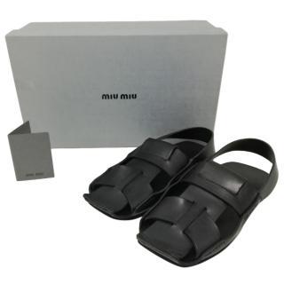 Miu Miu Men's Calfskin Sandals