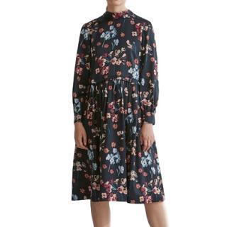 Toast London Floral High Neck Dress