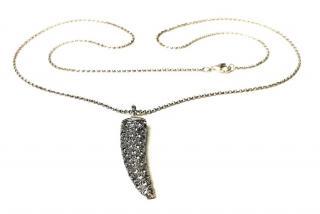 Ylang Ylang crystal embellished tusk necklace