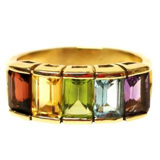 Bespoke 2.5ct Fine Gemstone Yellow Gold Set Ring