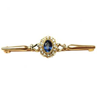 Bespoke Sapphire & Diamond Pin Brooch