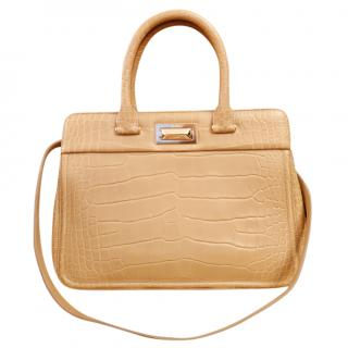 Max Mara Croc Embossed Tote Bag