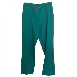 Cavalli Class Teal Trousers