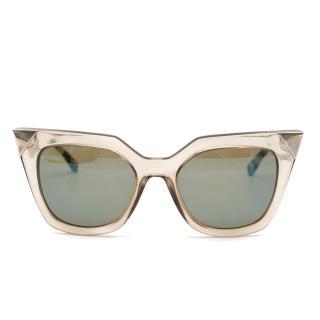 Fendi brown and silver sunglasses