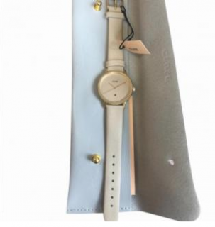 Cluse White & Gold Tone Watch