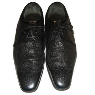 Moreschi Men's Black Leather Brogues